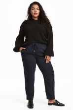 H&M+ Pull-on trousers - Dark blue/Pinstriped - Ladies | H&M GB 1