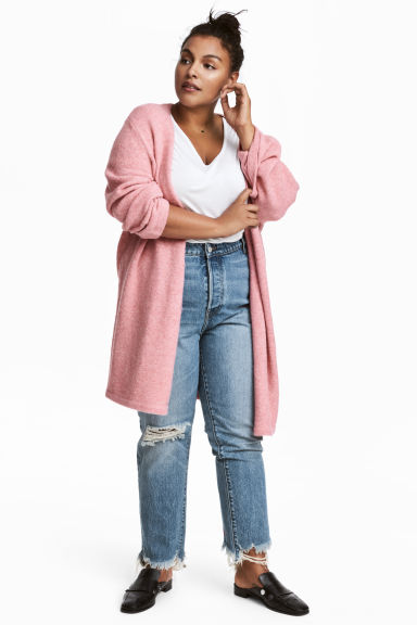 H&M+ Knitted cardigan - Pink - Ladies | H&M CN