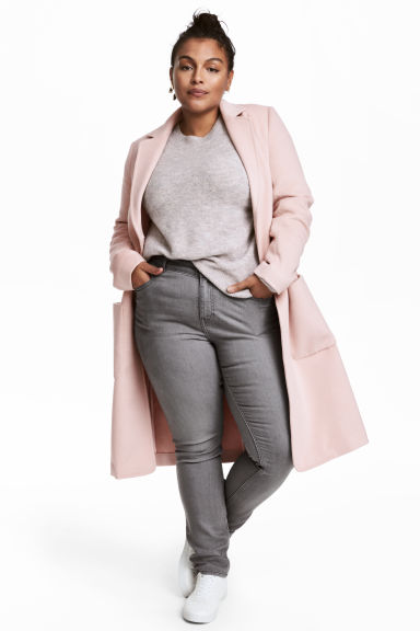 H&M+ Felted coat - Light pink - Ladies | H&M GB