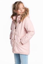 Padded parka - Light pink - Kids | H&M CN 1