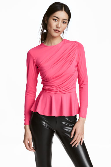 Draped top - Pink - Ladies | H&M IE 1