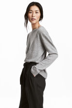 Cashmere jumper - Light grey - Ladies | H&M CN 1