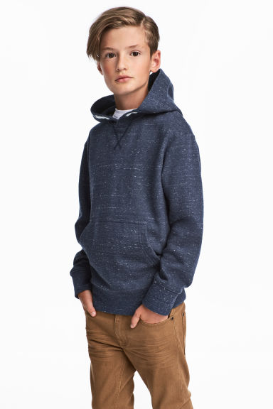 Hooded top - Dark blue marl - Kids | H&M 1