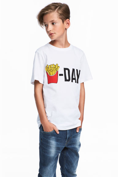 T-shirt - White - Kids | H&M CN 1