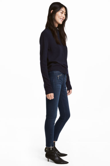 Skinny Regular Ankle Jeans - Dark blue - Ladies | H&M