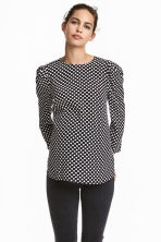 MAMA Patterned blouse - Black/Spotted - Ladies | H&M CN 1