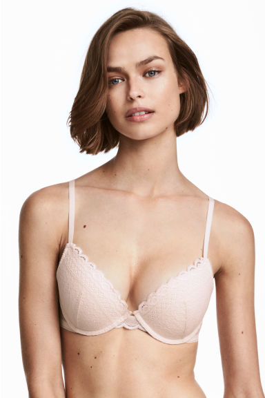 Kanten push-up bh - Lichtbeige - DAMES | H&M NL 1
