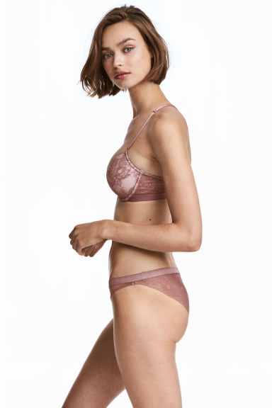 Mesh and lace briefs - Heather - Ladies | H&M