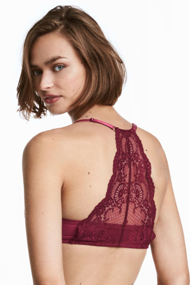 Lace-backed super push-up bra - Red - Ladies | H&M 1