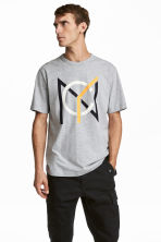 T-shirt - Light grey - Men | H&M 1