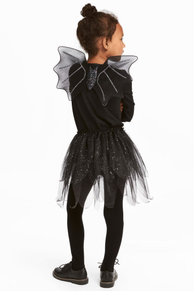 Fancy dress set - Black/Glittery -  | H&M 1