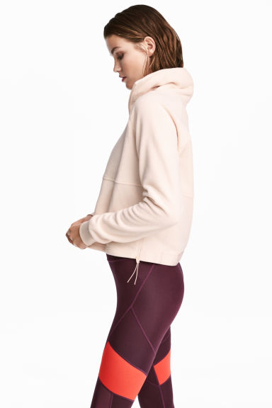 Fleece sports top - Powder pink -  | H&M