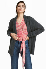 Shawl-collar cardigan - Dark grey - Ladies | H&M 1