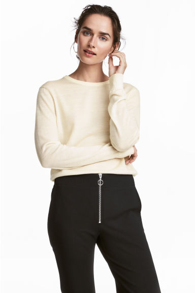 Knit Wool Sweater Model