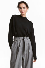 Merino wool jumper - Black - Ladies | H&M 1