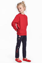 Twill trousers with appliqués - Dark blue - Kids | H&M 1