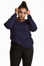 H&M+ Fine-knit jumper - Dark blue - Ladies | H&M IE 1