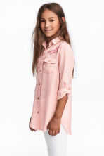 Shirt with embroidered motif - Light pink -  | H&M CN 1