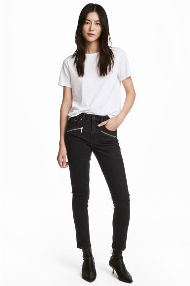 Skinny Regular Ankle Jeans - Black -  | H&M