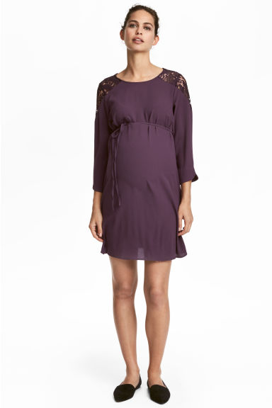 MAMA Abito fantasia - Viola scuro - DONNA | H&M IT 1