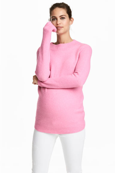 MAMA Knitted jumper - Light pink - Ladies | H&M CN