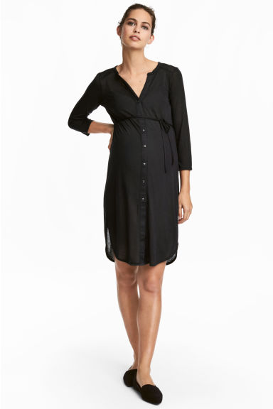 MAMA Jersey tunic - Black - Ladies | H&M 1