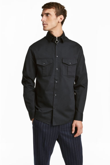 Utility shirt Regular fit - Black - Men | H&M