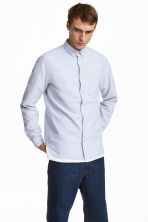 Oxford shirt Regular fit - Light grey - Men | H&M 1