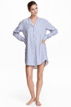 Flannel night shirt - Blue/Pink striped - Ladies | H&M CN 1