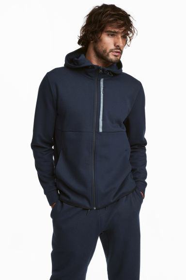 Hooded sports jacket - Dark blue -  | H&M GB