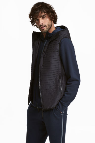 Padded bodywarmer - Black - Men | H&M GB 1
