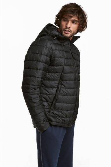 Padded sports jacket. - Black -  | H&M