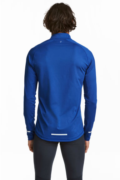 Running top with a collar - Bright blue - Men | H&M 1