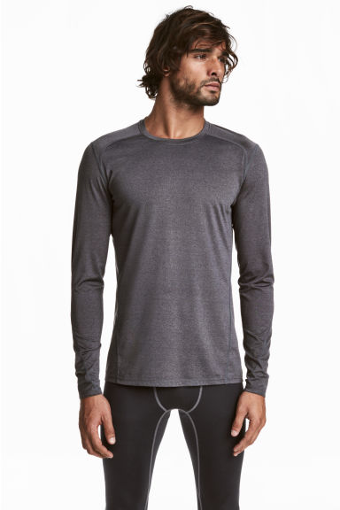 運動上衣 - Dark grey marl - Men | H&M