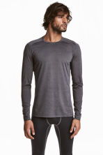 Sports top - Dark grey marl - Men | H&M IE 1