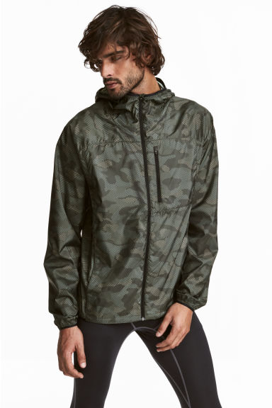 Sports jacket - Khaki green/Patterned - Men | H&M 1
