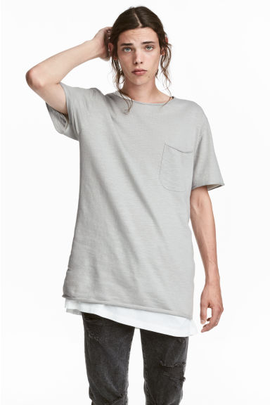 Fine-knit cotton T-shirt - Light mole - Men | H&M 1