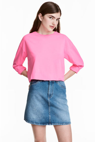 Tricot crop top - Fluoroze - DAMES | H&M BE 1