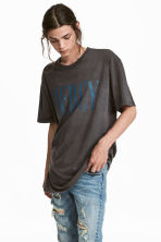 Printed T-shirt - Dark grey - Men | H&M IE 1
