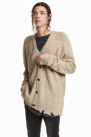 Knitted cardigan - Beige - Men | H&M 1