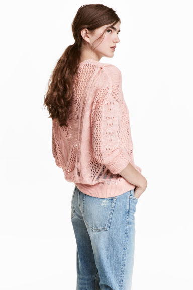 Knitted jumper - Pink -  | H&M CN
