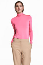 Polo-neck jumper - Pink - Ladies | H&M CN 1