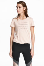 Top da running - Rosa cipria - DONNA | H&M IT 1