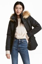 Padded parka - Black - Ladies | H&M GB 1