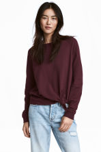 Knot-detail sweatshirt - Burgundy - Ladies | H&M 1