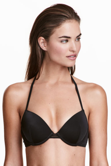 Push-up bikini top - Black - Ladies | H&M CN