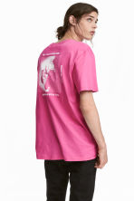 T-shirt met print - Roze - HEREN | H&M BE 1