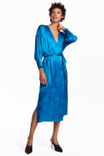 Wrap dress - Bright blue - Ladies | H&M 1