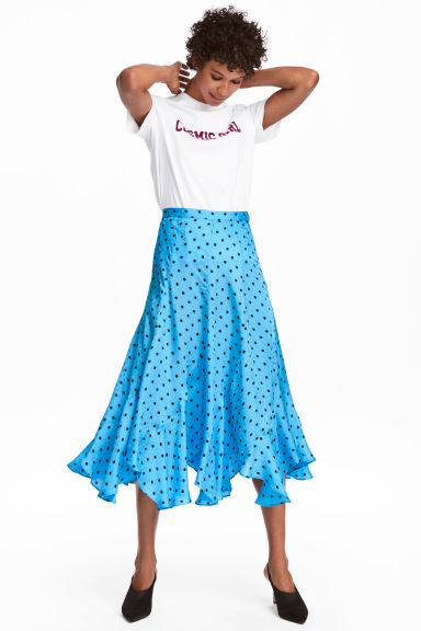 Jacquard-weave skirt - Light turquoise/Spotted - Ladies | H&M IE 1