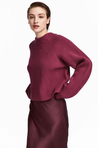 Knitted wool jumper Model